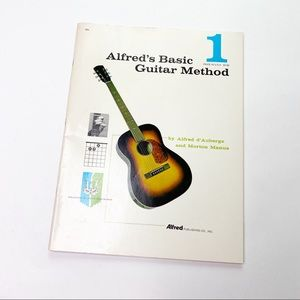 Vintage Alfred's Basic Guitar Method Music Book